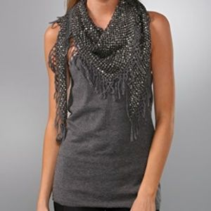 Alice + Olivia Gray Sequin top